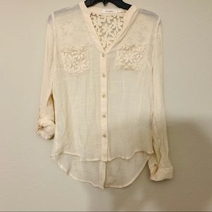 Blu Pepper Floral Lace Blouse